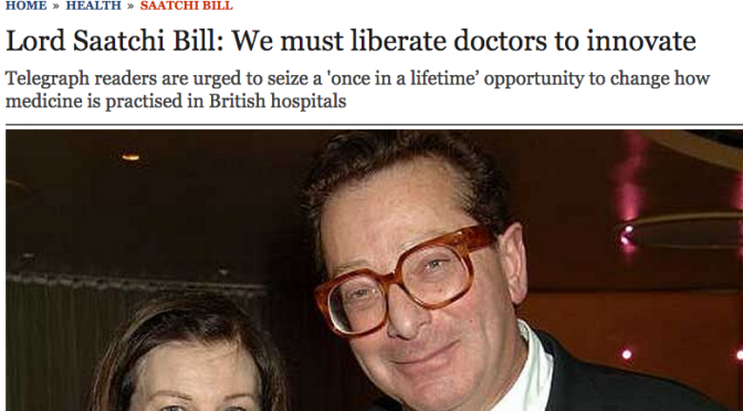 Lord Saatchi - in the Telegraph