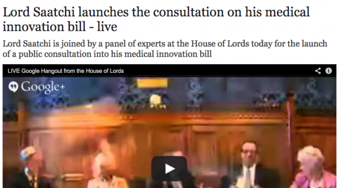 Telegraph - consultation launches