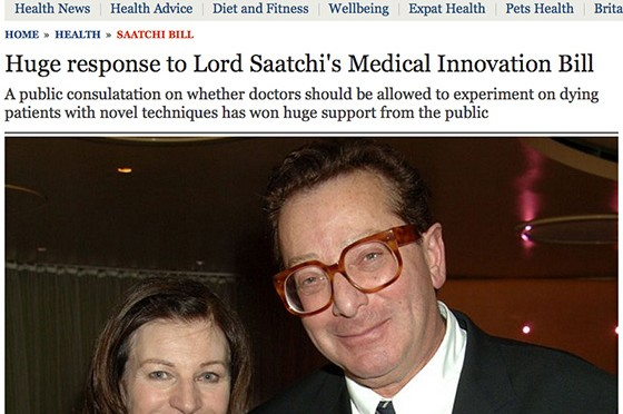 Medical Innovation Bill - Saatchi Bill - huge response to the consultation