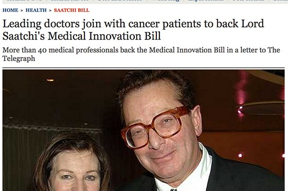 Telegraph Doctors and patients back the Medical Innovation Bill